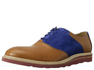 Cole Haan - Christy Wedge Saddle (Camello/Blue Suede) - Footwear