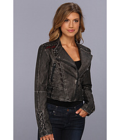 Sam Edelman - Circus by Sam Edelman Embroidered Faux Leather Jacket