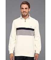 IZOD - Long Sleeve Half Zip Chest Stripe Pullover