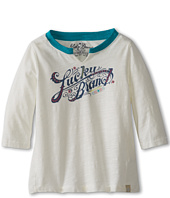 Lucky Brand Kids - Girls' Logo Vneck L/S Tee (Toddler)