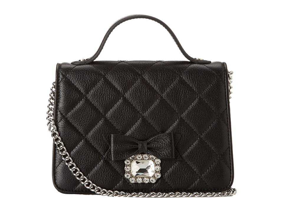 My Flat In London - Westminster Small Top Handle (Black) Cross Body Handbags