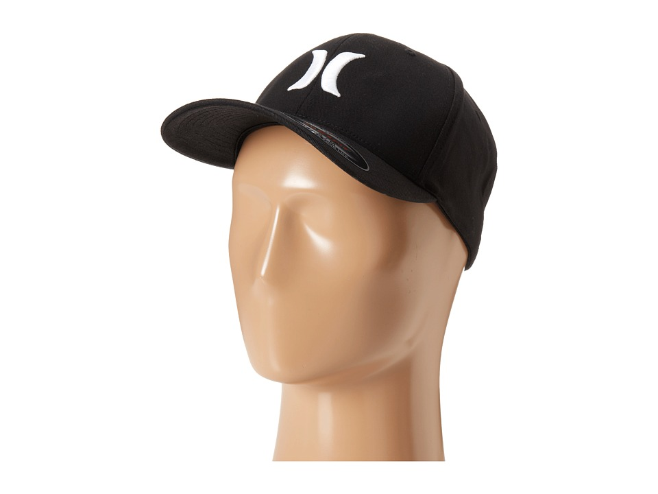 Hurley One Only Flexfit(r) Hat (Black White) Caps