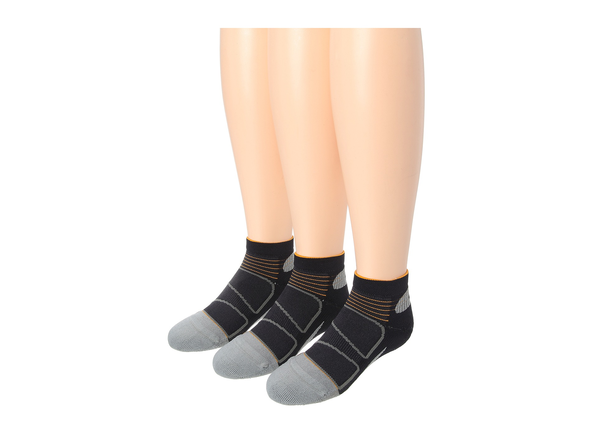Feetures Elite Light Cushion Low Cut 3 Pair Pack Black