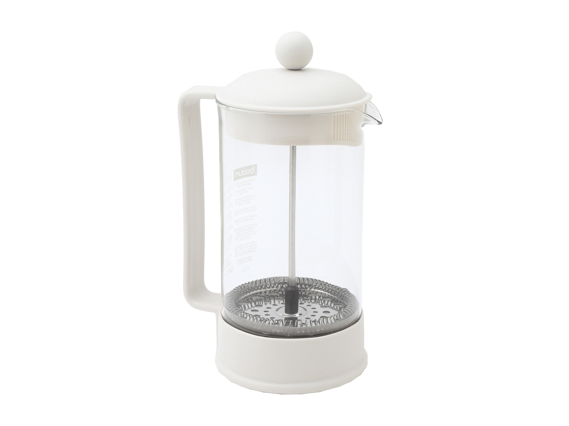 White French Press Coffee Maker : Bodum Brazil French Press Coffee Maker 34 Oz White Shipped Free at Zappos