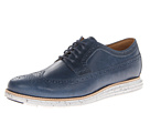 Cole Haan - Lunargrand Long Wingtip (Blazer Blue/Cloud Dancer) - Footwear