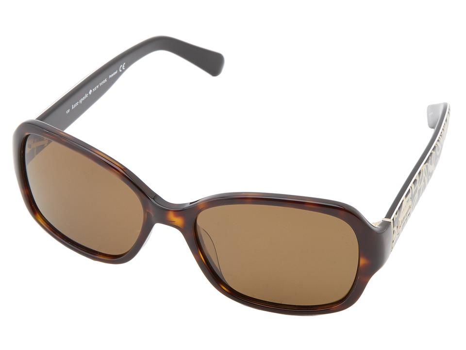 Kate Spade New York - Akira (Tortoise / Dark Brown Polarized) Plastic Frame Fashion Sunglasses