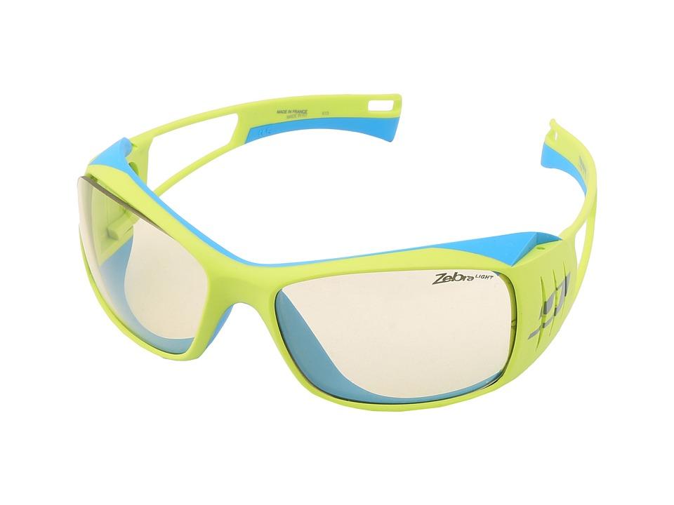 Julbo Eyewear Tensing Flight Interchangeable Zebra and Polarized Lenses Yellow/Blue Sport Sunglasses