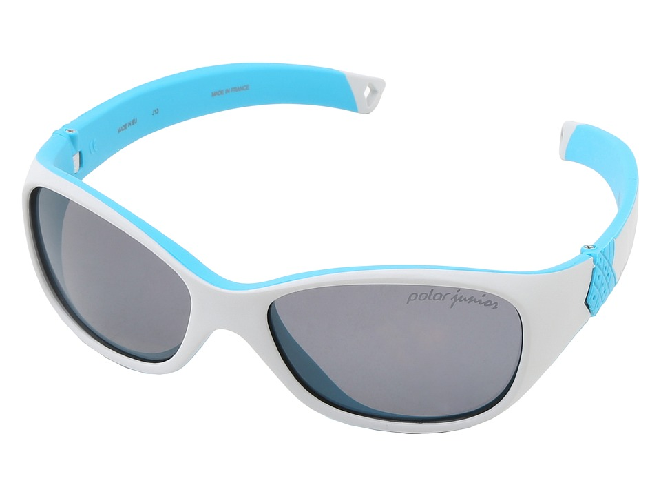 Julbo Eyewear Solan Kids Sunglasses Grey/Blue w/ Polarized Kids Lenses 4 6 Years Grey/Blue Sport Sunglasses