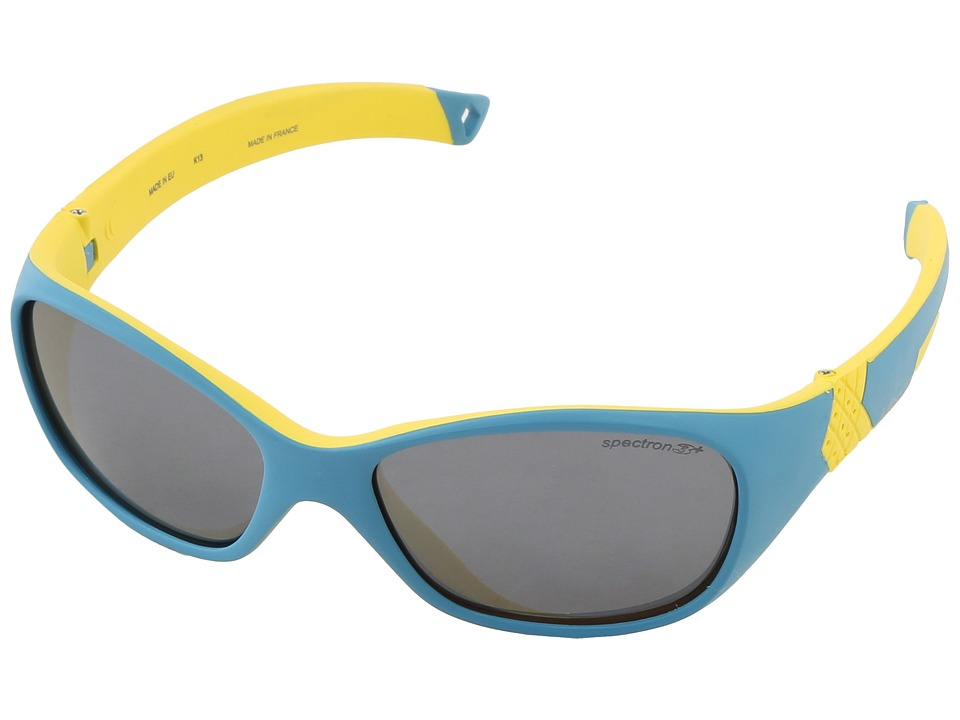 Julbo Eyewear - Solan Kids Sunglasses, Blue/Yellow w/ Spectron 3+ Lenses (4-6 Years) (Blue/Yellow) Sport Sunglasses