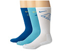 Nike - Dri-Fit Fly Crew 3-Pair Pack (Military Blue/Atomic Mango/White/Mil Blue/Polar Blue/Mil Blue)