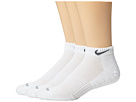 Nike - Dri-FIT Cushion Low Cut 3 Pack (White/Flint Grey)