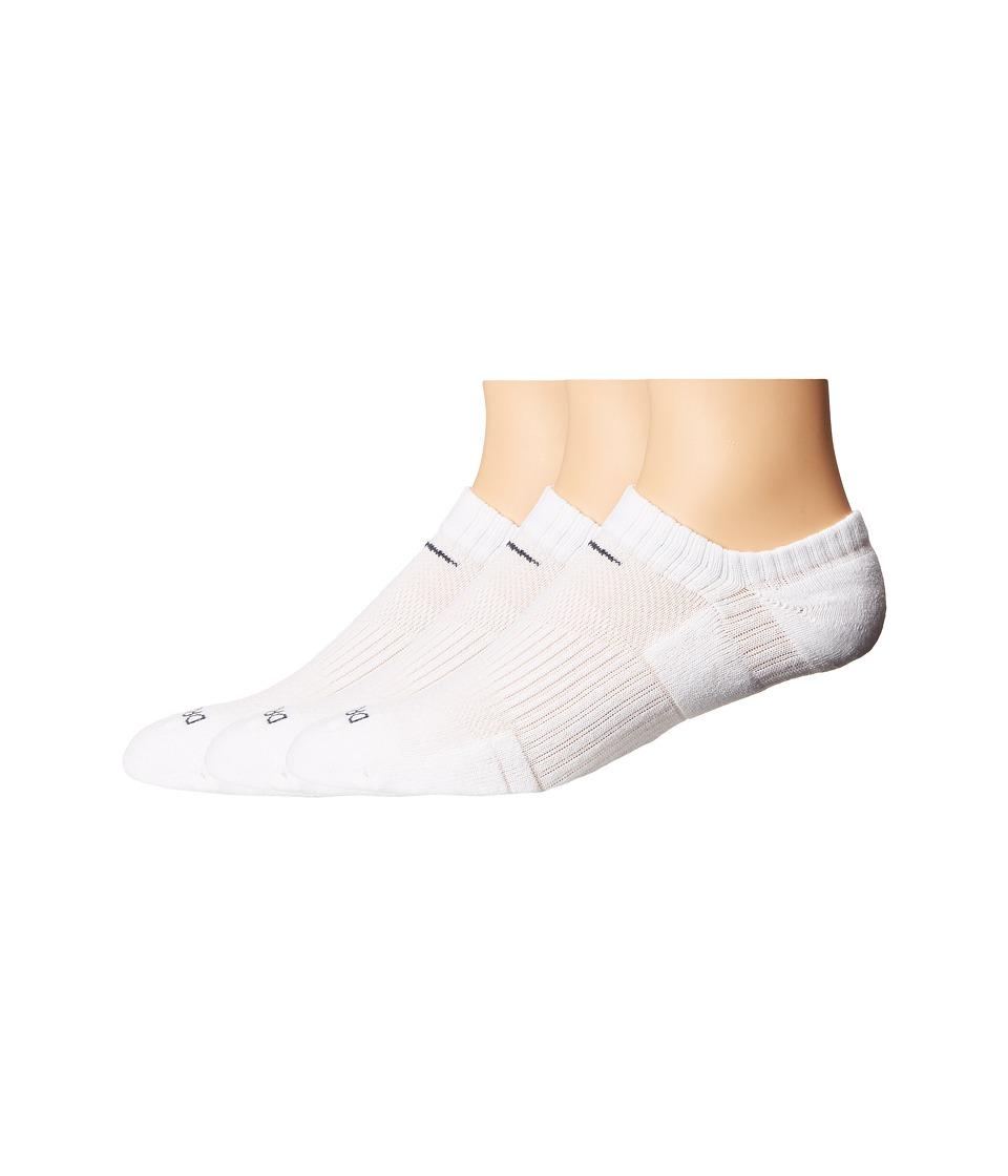 Nike Dri-FIT Cushion No Show 3 Pack (White/Flint Grey) No...