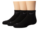Nike - Dri-FIT Cushion Quarter 3 Pack (Black/Flint Grey)