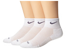Nike - Dri-FIT Cushion Quarter 3 Pack (White/Flint Grey)
