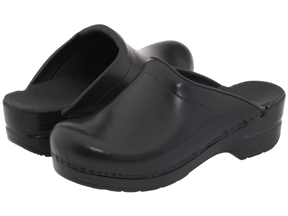 Dansko - Sonja (Black Cabrio) Womens Clog Shoes