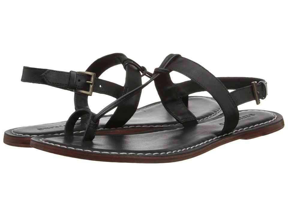 Bernardo Maverick (Black Nappa Leather) Sandals