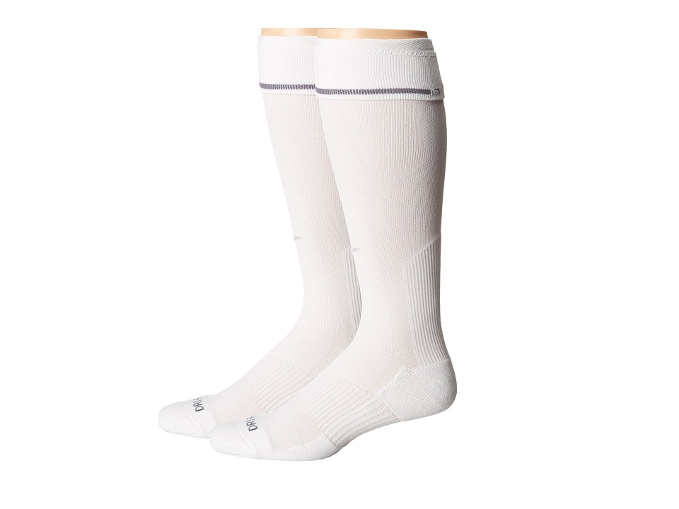 Nike 2 Pair Pack Baseball Sock White/Neutral Grey Crew Cut Socks Shoes