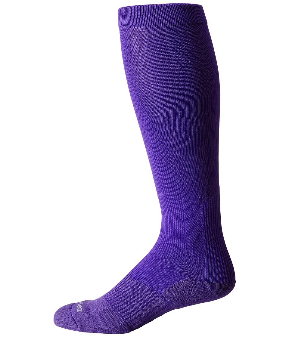 Nike - 2 Pair Pack Baseball Sock (Court Purple/Court Purple) Crew Cut Socks Shoes