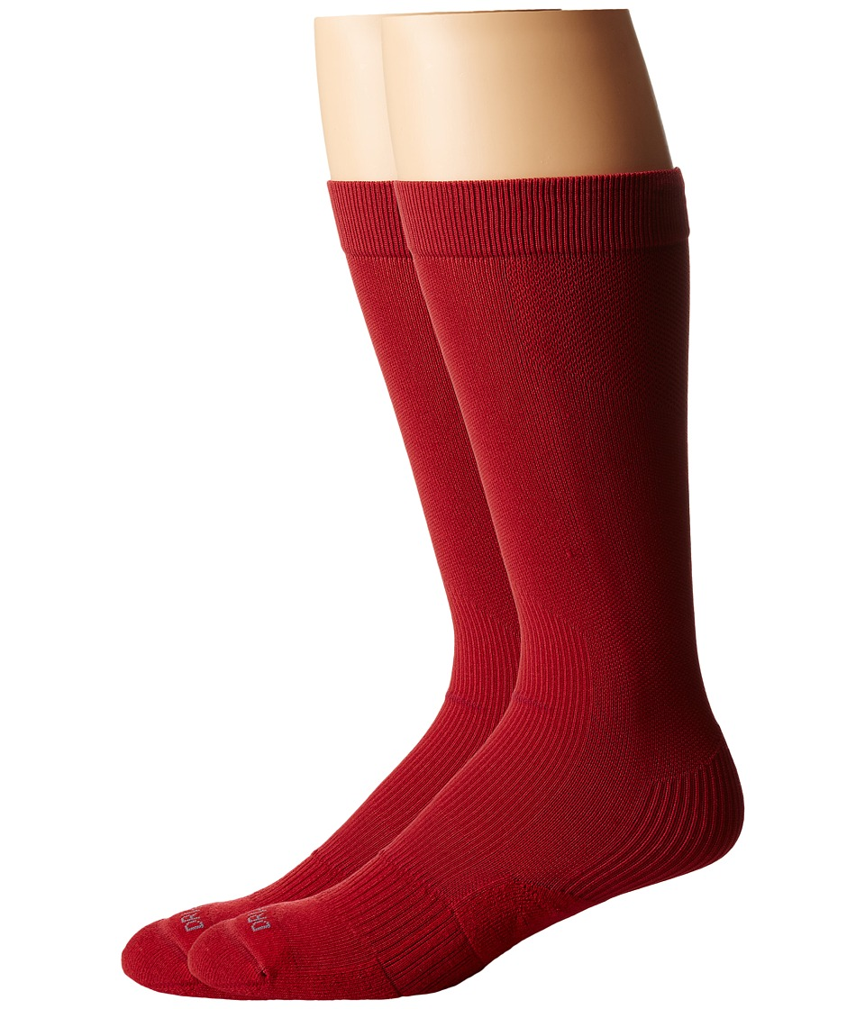 Nike 2 Pair Pack Baseball Sock Team Crimson/Team Crimson Crew Cut Socks Shoes