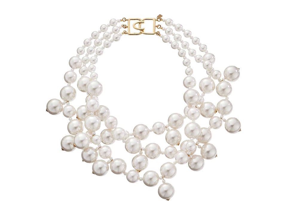 Kenneth Jay Lane 5079NWP Necklace (White Pearl) Necklace