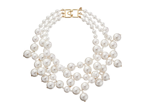 Kenneth Jay Lane 5079NWP Necklace - White Pearl