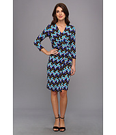 Anne Klein - Three-Quarter Sleeve Jersey Sarong Dress