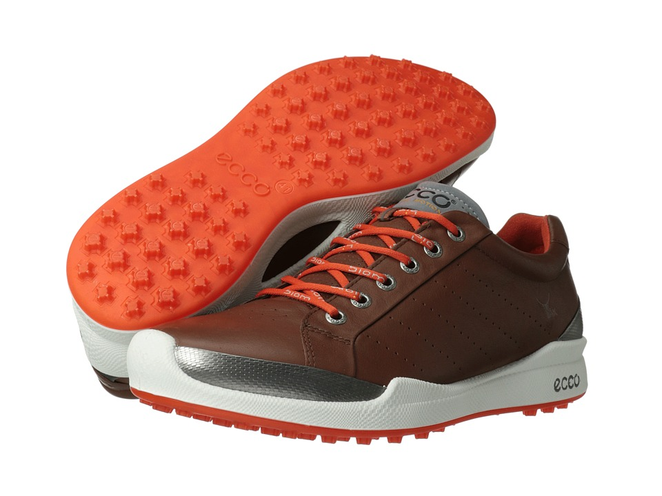 ECCO Golf Biom Golf Hybrid Mahogany/Fire Mens Golf Shoes