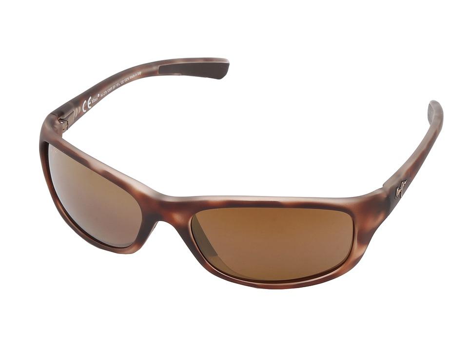 Maui Jim Kipahulu (Matte Tortoise Rubber/HCL Bronze) Polarized Sport Sunglasses