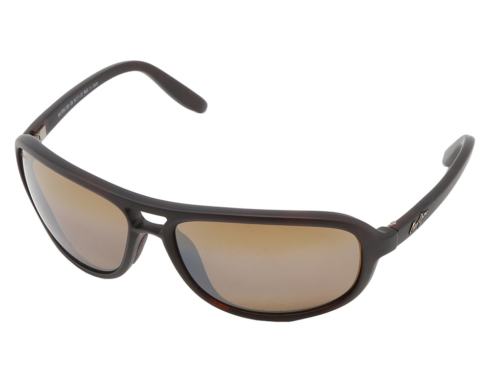 Maui Jim Breakers Matte Tortoise/HCL Bronze Polarized Sport Sunglasses