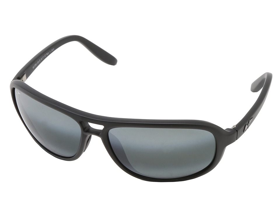 Maui Jim Breakers Matte Black/Neutral Grey Polarized Sport Sunglasses