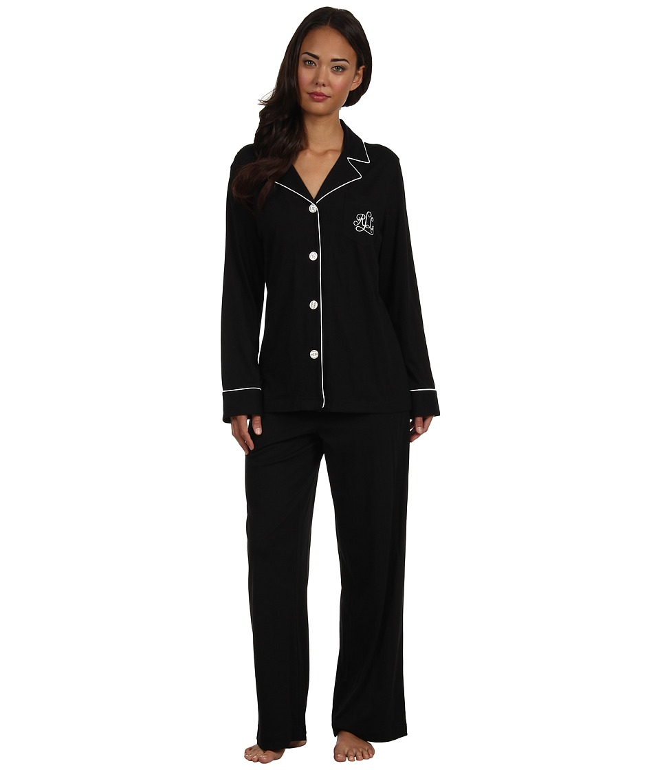 LAUREN Ralph Lauren - Hammond Knits Pajama Set (Black) Womens Pajama Sets