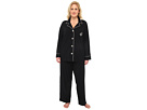LAUREN Ralph Lauren - Plus Size Hammond Knits Pajama Set (Black)