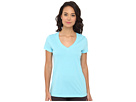 LAUREN Ralph Lauren - Essentials S/S V-Neck Sleep Top (Aquamarine)