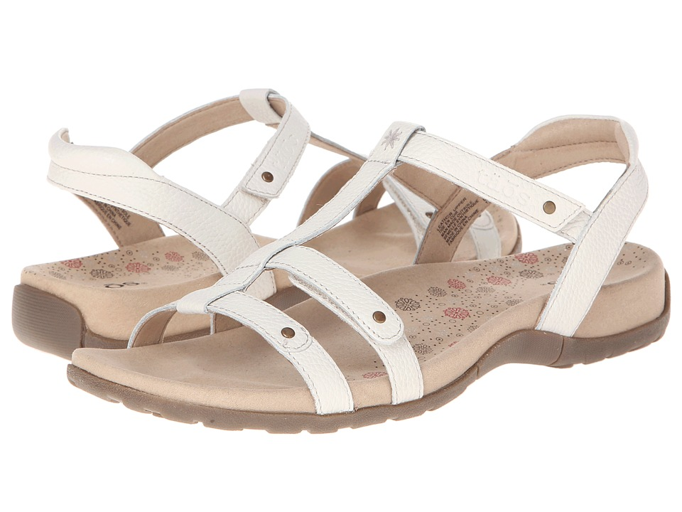 1950s Style Shoes Taos Footwear Trophy White Womens Sandals $100.00 AT vintagedancer.com