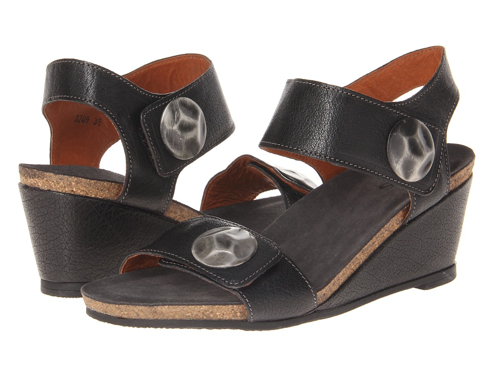 taos Footwear Boardwalk Black Womens Sandals