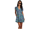 LAUREN Ralph Lauren - Matira Paisley Farrah Dress Cover-Up (Deep Turquoise Multi)