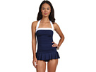 LAUREN Ralph Lauren Bel Aire Solids Shirred Bandeau Skirted Mio
