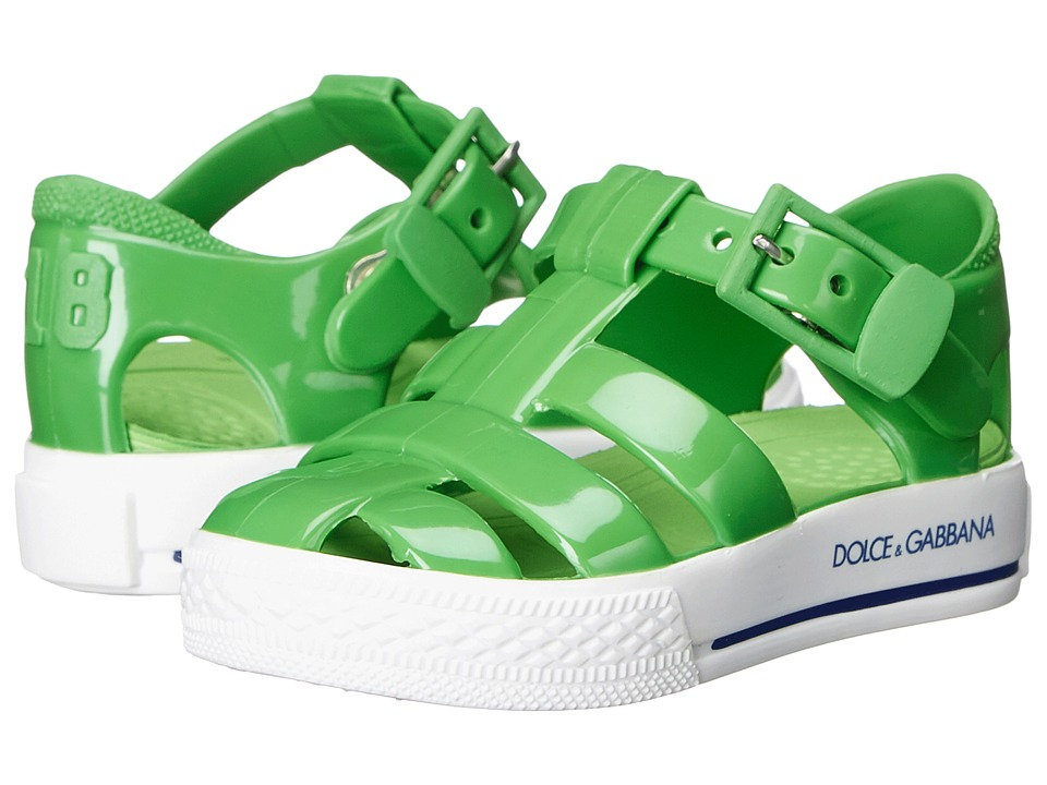 Dolce amp Gabbana Kids Beach Sandal Toddler/Little Kid Green Girls Shoes