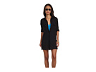LAUREN Ralph Lauren - Crushed Cotton Camp Shirt Cover-Up (Black)