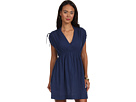 LAUREN Ralph Lauren - Crushed Cotton Farrah Dress Cover-Up (Bright Indigo)