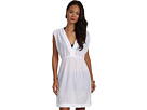 LAUREN Ralph Lauren - Crushed Cotton Farrah Dress Cover-Up (White)