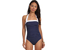 LAUREN Ralph Lauren Harbor Dot Shirred Bandeau Mio