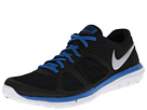 Nike - Flex 2014 Run (Black/Military Blue/White/Metallic Silver)