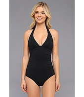 DKNY - Draped Solids Halter Maillot One-Piece