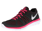 Nike - Flex 2014 Run (Black/Vivid Pink/White/Metallic Silver)