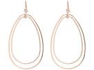Double Teardrop Wire Hoop Earring