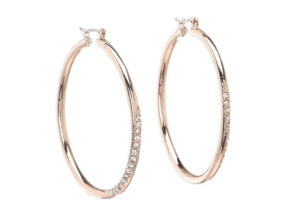 GUESS - Hoop with Stones (Rose Gold/Crystal) Earring