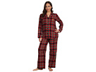 LAUREN Ralph Lauren - Plus Size Town and Country L/S Classic Notch Collar PJ Set (Bleecker Plaid)