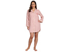 LAUREN Ralph Lauren - Plus Size Town and Country L/S Classic Notch Collar Sleepshirt (Varick Stripe)
