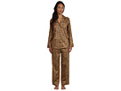LAUREN Ralph Lauren - Town and Country L/S Classic Notch Collar PJ Set (Madison Leopard)